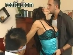 Horny real wife shows her passion during hot oral- free
