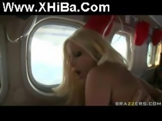 XHiBaCom Gina Lynn fucked on a plane in the air