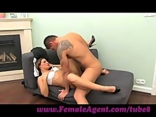 FemaleAgent. MILF cums all over studs cock