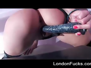 Artsy look into anal solo with London Keyes