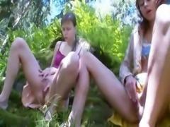Three french virgins masturbating