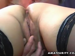 A naughty mature amateur housewife homemade hardcore action with masturbation...