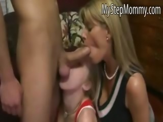 Avril Hall fucks her BF with her stepmom Kristal Summers