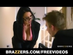 Naughty British nanny Louise Jensen disciplines her client free