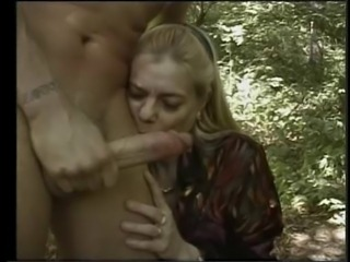 French Granny Anal In The Woods