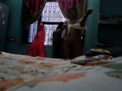Indian Aunty Megha Rani caught nude while changing clothes.