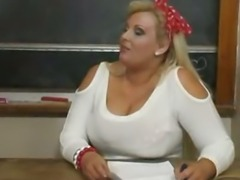 BBW Kirsten teacher Riding Dick