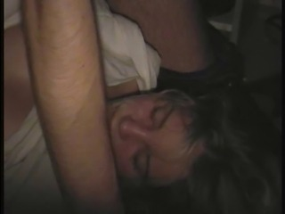 Mature Enjoy Cumshot PRETENDING to sleep