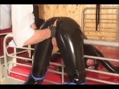 Two fisting clips, one a MILF and the other wrapped in latex