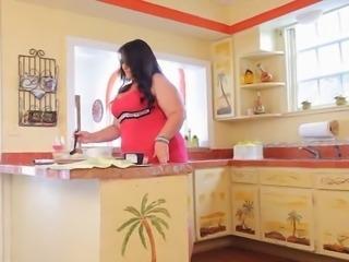 Hot BBW Anal Kitchen