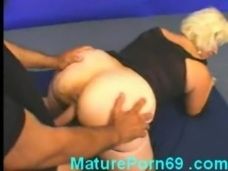 Mature blonde gets fucked hard free