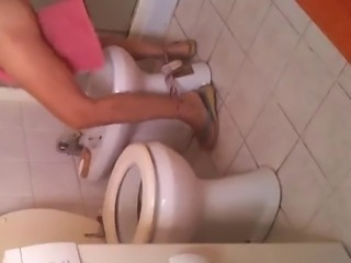 my mom in toilet