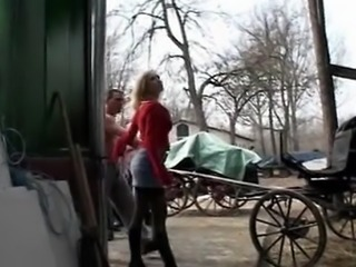 Enjoy Italian farmgirl gangbanged