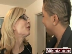 Cheating Housewives Nina Hartley  Double Penetration Interracial Facial, MILF...