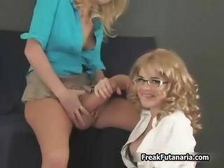 Hot blonde babes go crazy jerking