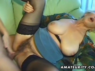 A very old mature amateur wife with hairy pussy homemade hardcore action ! Blowjob and fuck ending with cumshot on her tongue ! Naughty !