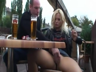 Fucking hot blonde in public on park free