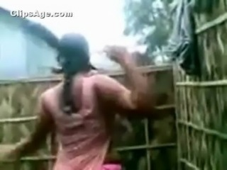 South Indian neighbor aunt caught full nude changing dress in outdoor bathroom free