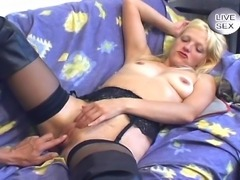 Take a look at this dirty MILF enjoying two cocks at the same time and loves...