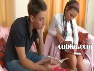 fine lesson of beautiful russian teen