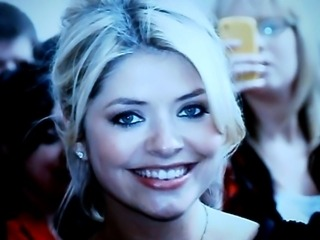 holly willoughby cum faced