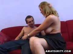 Busty amateur Milf anal hardcore with cumshot free