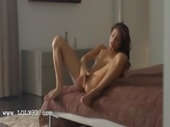 Wet orgasm of exotic beauty teasing
