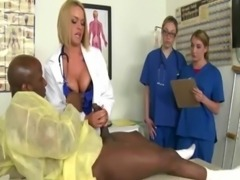 White cfnm nurses sucking black cock and really loving it free
