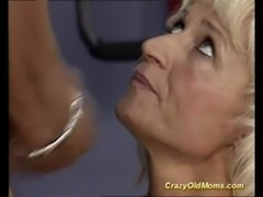 Crazy old mom gets hard fucked free