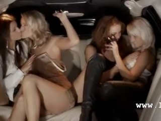 Extreme group havingsex in limo