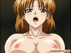 Bondage hentai gets vacuum her bigboobs and clitoris