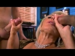 Georgette Parks Enjoying 2 Young Cocks
