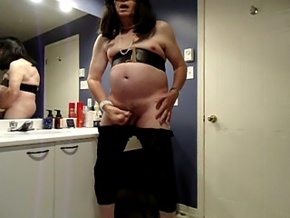 VanessaTV masturbating and cumming hard in her bathroom