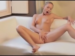 Red sexy toy in her amazing snatch
