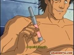 Bondage hentai bigboobs policewoman gets sucking her pink pussy