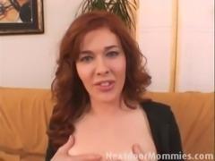 Redhead mom sucking and fucking free