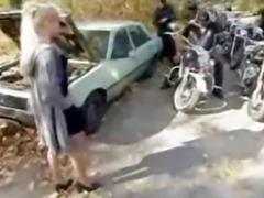 Biker Babe Gang Bang