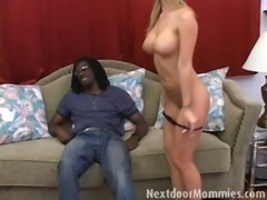 Hot businesswoman on a black cock free
