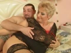 Busty chubby grandma getting fucked