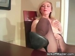 Slutty blond mum with big hooters