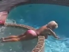 Busty Dusty having fun in the jacuzzi pt 2