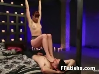 Kinky Babe Fascinating Fetish Foot Licking