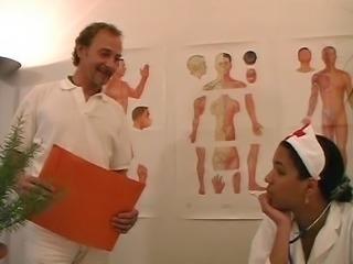 French Ebony Nurse