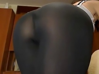 Sexy cam girl perfect ass plays with dildo in her ass #4