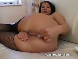 Filthy anal gaping whore gets dirty
