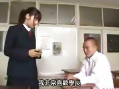 Asian schoolgirl fucked in class room