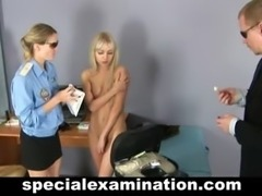 Blonde teen gets special gyno exam