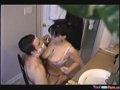 Colette fucks her man while shaving his beard free