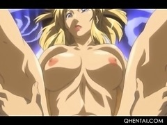 Naked hentai siren taking huge dick in mouth and pussy