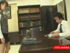 Office Lady Rapped By Her Boss Mouth Fucked Cum To Tongue On The Floor In The...